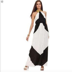 Vince Camuto Black and White Maxi Dress NWT
